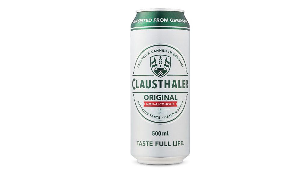 Lata de cerveza sin alcohol Clausthaler