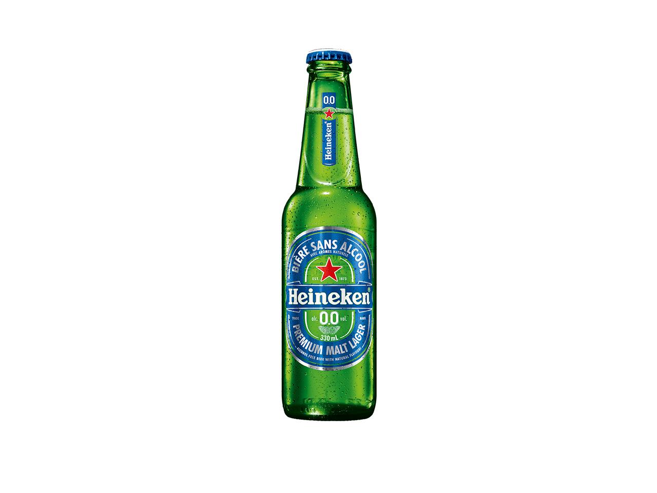 Botella de cerveza sin alcohol Heineken 0.0