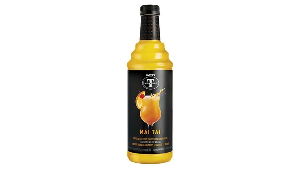 Botella de cóctel Mott's Mr & Mrs T Mai Tai