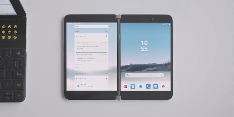 Descubierto el primer teléfono Android de Microsoft, Surface Duo
