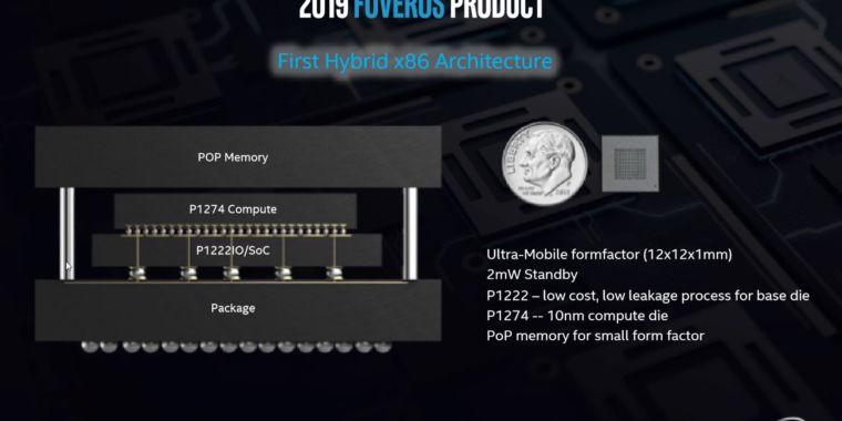 Intel presenta Foveros: apilamiento de datos 3D para algo más que memoria