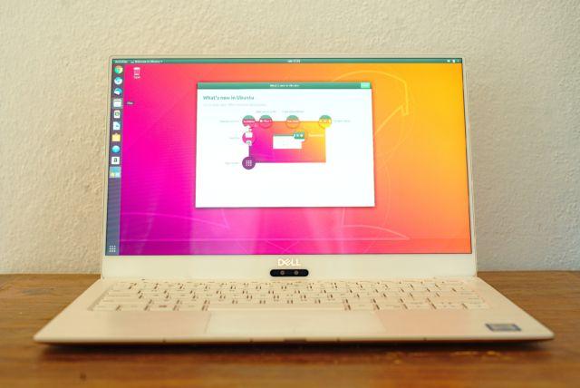 Ubuntu en la pantalla XPS 13 HiDPI.
