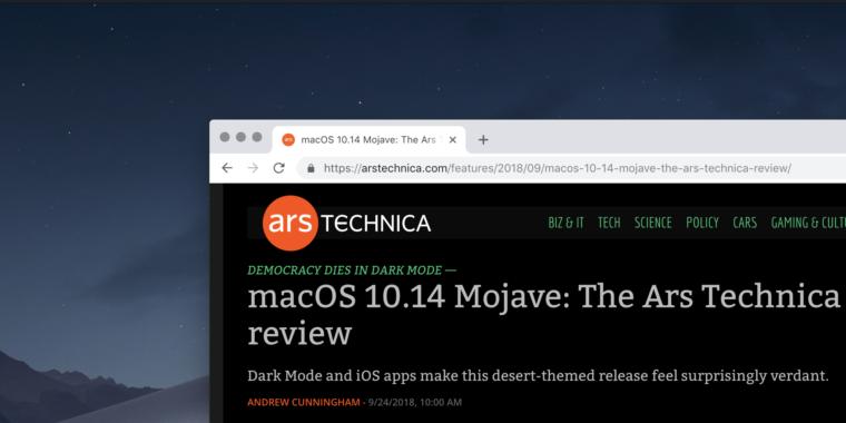 El modo oscuro de macOS Mojave llegará a Google Chrome