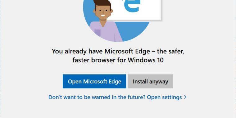 La próxima actualización de Windows 10 provoca indignación ya que continúa promocionando Edge