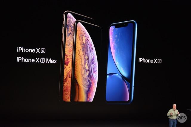 Tres nuevos iPhones.