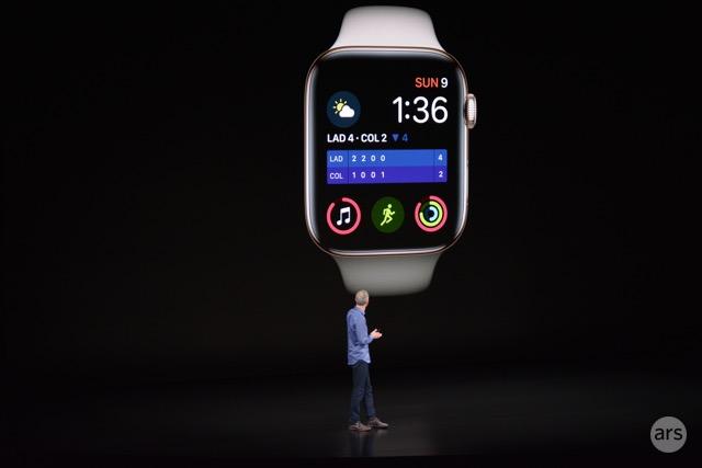 El Apple Watch Series 4 presenta una pantalla más de un 30 por ciento más grande que la Serie 3.
