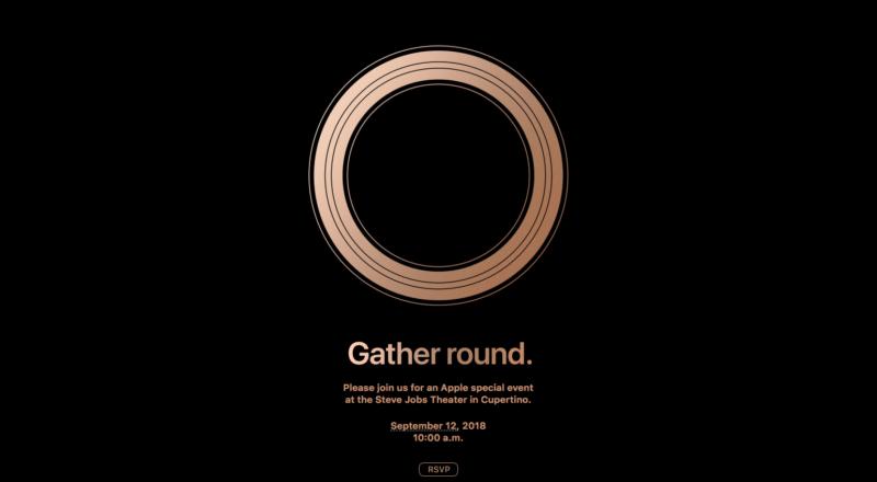 Una invitación vagamente siniestra a un evento de Apple.